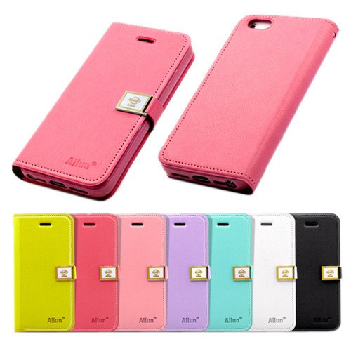 the best attitude d6d9e ec1da Ailun Luxury Leather Wallet Magnetic Flip Case Cover for iPhone 4/4S