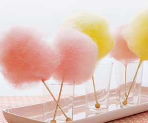 cotton candy, yellow, and delisious image