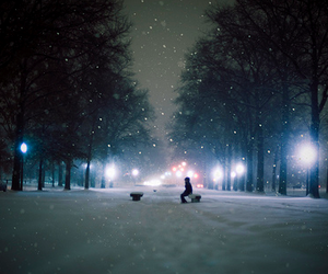 light, photography, and snow image