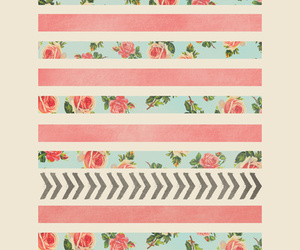 arrows, floral, and art print image