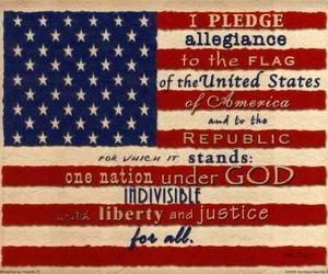america, pledge of allegiance, and american flag image