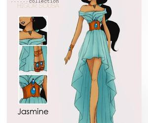 jasmine, disney, and fashion image