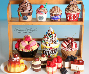 food, ice cream, and dessert image