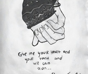 black and white, pierce the veil, and romance image