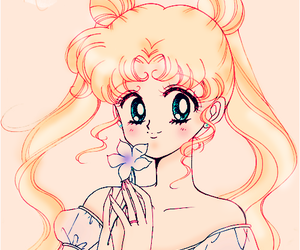 anime, flower, and sailor moon image