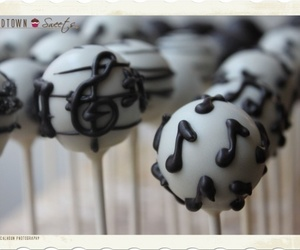 cake pops, music notes, and lollies image