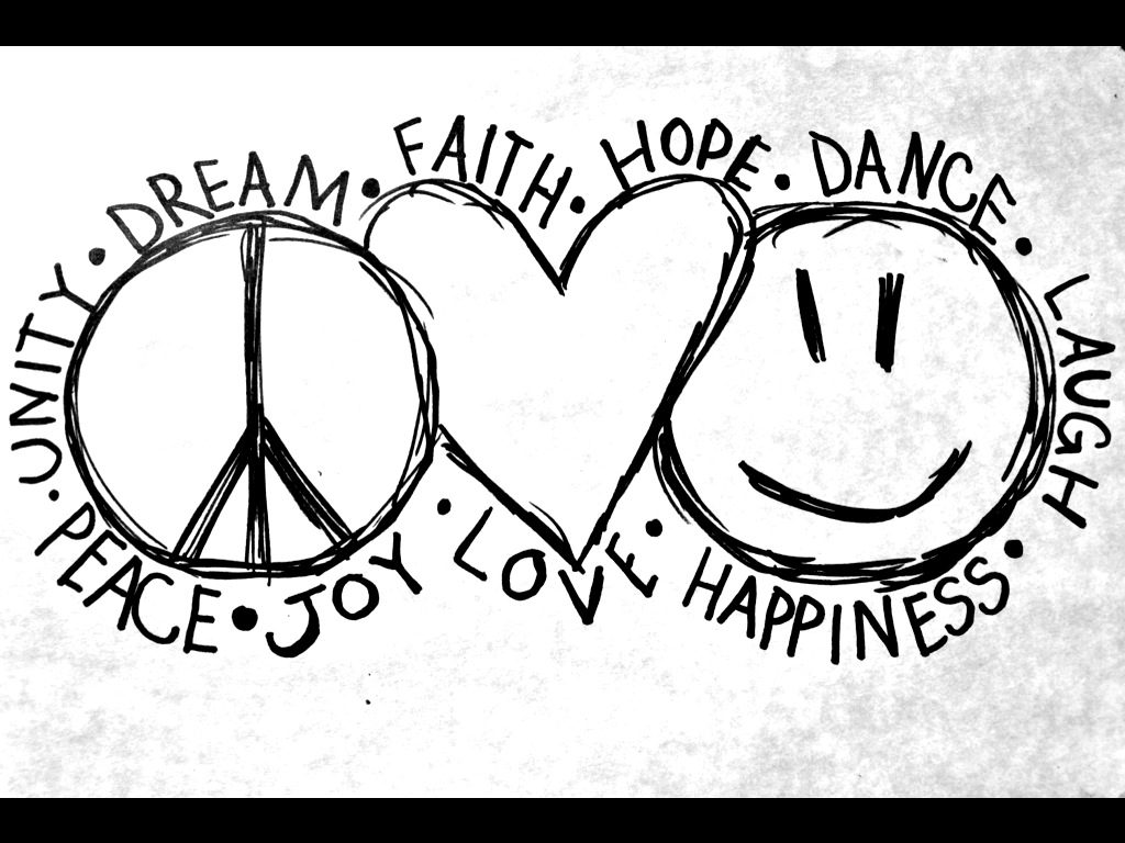 peace♥love♥happiness uploaded by happy one on We Heart It