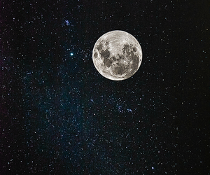 moon, stars, and night image