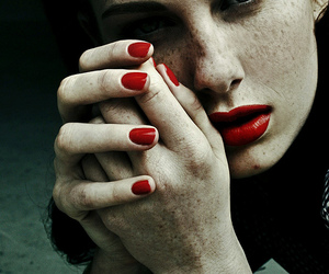 freckles, lips, and nails image
