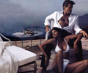 champagne, Halle Berry, and Pierce Brosnan image