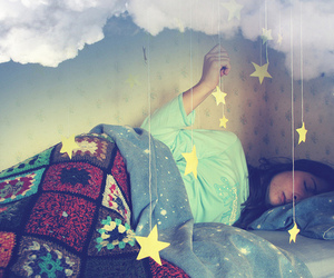 stars, girl, and Dream image