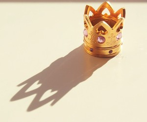 crown, gold, and pink image