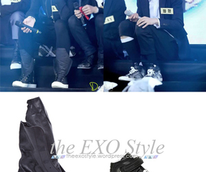 exo, kris, and sneakers image