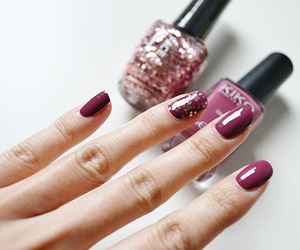 beauty, french, and nail image