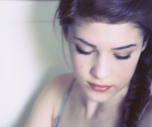 beautiful, braid, and brunette image