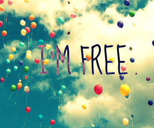 free, balloons, and sky image