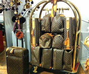 Louis Vuitton, bag, and travel image