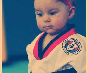baby and taekwondo image