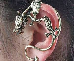 dragon, cool, and earrings image