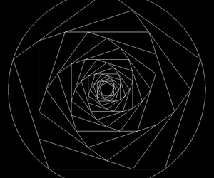 black and white and sacred geometry image