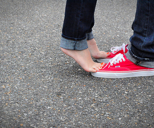 love, couple, and vans image
