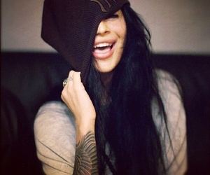 girl, tattoo, and smile image