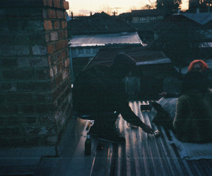friends, roof, and vintage image