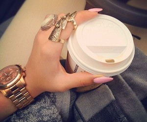 accessories, cofee, and girl image