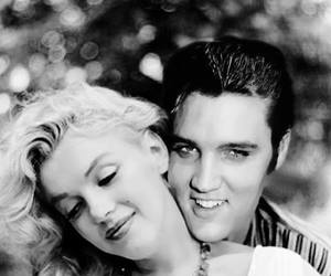 black, Marilyn Monroe, and photo image