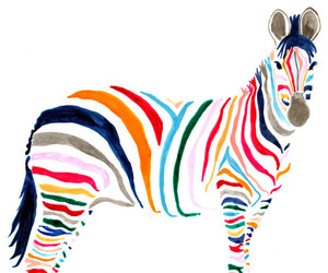 zebra, art, and animal image