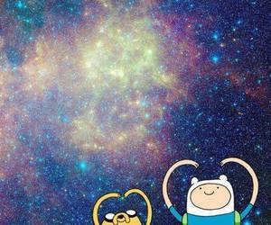 galaxy, adventure time, and JAKe image