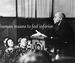 being human, inferior, and alfred adler image