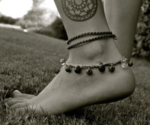 tattoo, feet, and mandala image