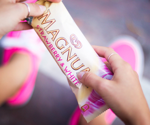 Magnum, pink, and ice cream image
