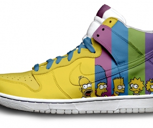 shoe, the simpsons, and nike image