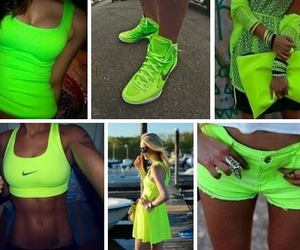 neon, green, and nike image
