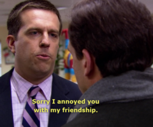 friendship, the office, and sad image