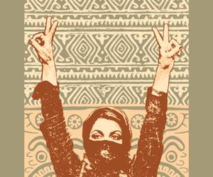 girl, peace, and woman image