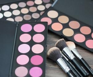brush, makeup, and model image