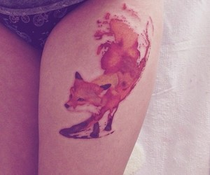 fox and tattoo image