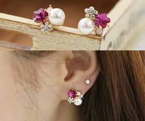 crystal, earrings, and from image