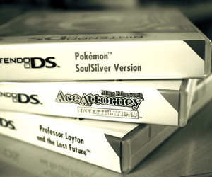 nintendo ds, video game, and professor layton image