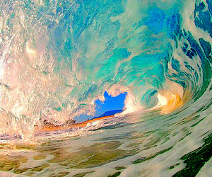 wave and blue image