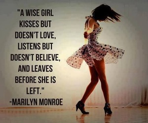 quote, Marilyn Monroe, and wise image