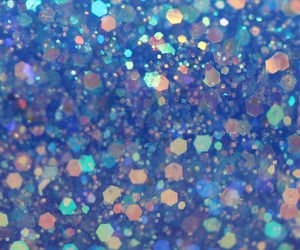 blue and glitter image