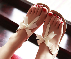 sandals, shoes, and bow image