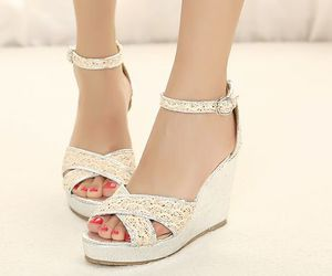 elegant, sandals, and silver image