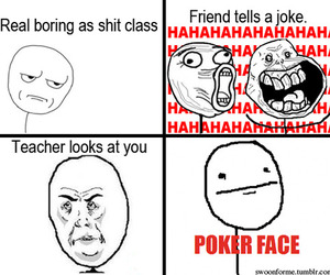 funny, poker face, and lol image