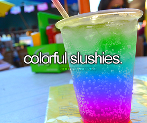 slushies, colorful, and summer image