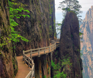 china, path, and cliffside image